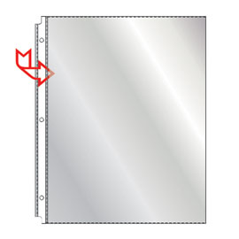 Side loading sheet protectors from SSC